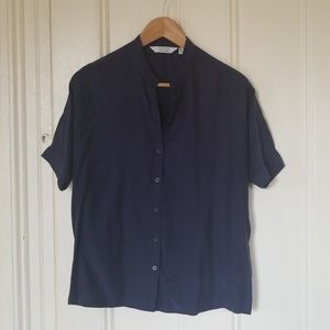 & Other Stories Navy Blouse